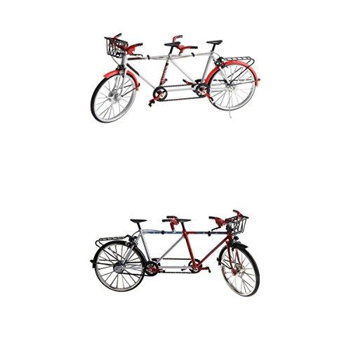 Tandem Bike Racing - MagiDeal 2X 1/10th Miniature Tandem Bike Cycling Toy Velodrome Diecast Vehicle Model Playset Birthday Gift