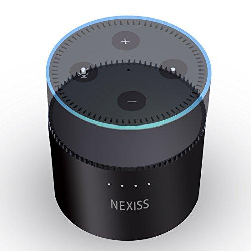 Echo dot Battery,NEXISS -an Intelligent Echo dot Battery Base for Echo dot 2nd Generation Echo dot Accessories 10000mAh Rechargeable Battery Base Work for Alexa,Echo dot Portable Battery