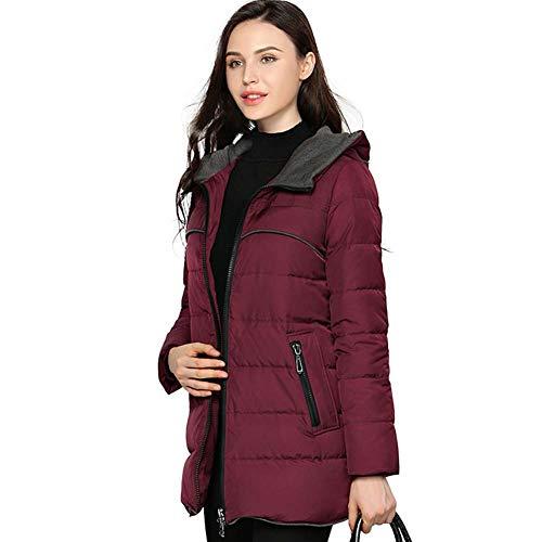 avec veste pour en Fit Yz hod Slim femme duvet Manteau et capuche vxaqwI8W0