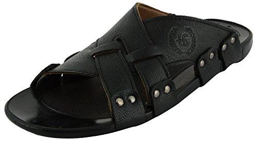 Lee Graim Mens Black Synthetic Outdoor Sandals - 9 UK