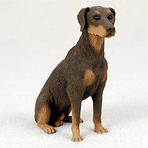 (Ky & Co YesKela Doberman Pinscher Figurine Hand Painted Statue Red Uncropped)