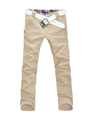 Décoratif Button Pure Short Longue Beige Dessin Bestgift Et Avec De Homme Carreau Loisirs Couleur Pantalon OBOqpZxw1
