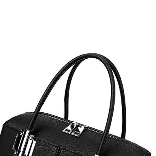 Kyokim Hand Bag New Fashion Women Messenger Bag Shoulder Vintage Casual Litchi Black Genuine Leather And