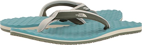 The North Face Womens Base Camp Mini Beach Lightweight Summer Flip Flops - Gray/Blue - 10 - North Face Mini Base