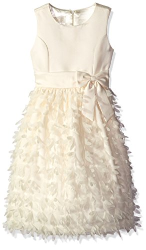 American Princess Little Girls' Toddler All Around Flower Petal Dress, Candlelight, 3T