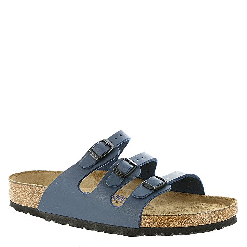 Birkenstock Women's Florida Soft Footbed Birko-Flor  Navy Sandals - 41 M EU
