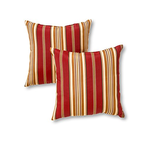 Greendale Home Fashions 17 in. Outdoor Accent Pillow (set of 2), Roma Stripe