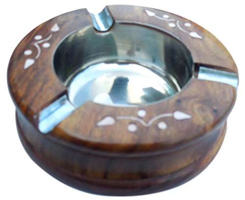 Cheap  Indoor And Outdoor Ashtrays - Handmade Indian Wood Home Ashtray - Great..