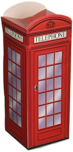 Beistle 54121 Phone Box Favor Boxes, 3 by 81/2-Inch -