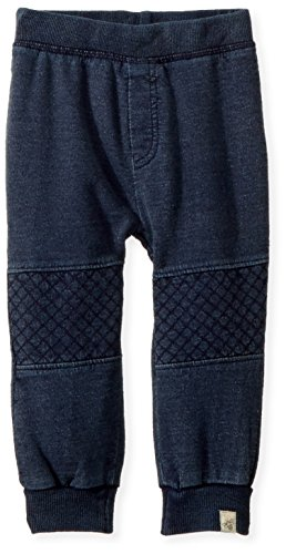 Burt's Bees Baby Baby Sweatpants, Knit Jogger Pants, 100% Organic Cotton, Midnight Terry Denim, 12 Months