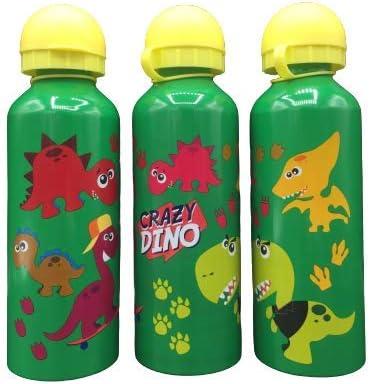 ML Una Botella de Agua de Aluminio, cantimplora térmica a Prueba de Fugas sin BPA para Levar a la Escuela y Deportes el Termo 500ml para niños y niñas (Verde)