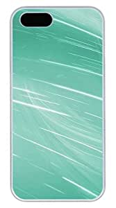 Aero Green 5s Cover Case Skin for iPhone 5 5s Hard PC White