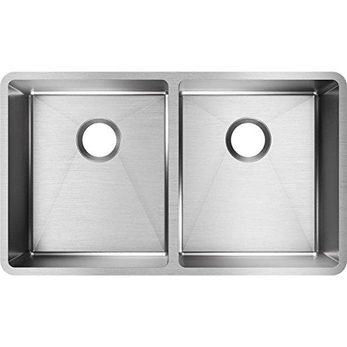 Elkay ECTRU31179 Equal Double Bowl Undermount Kitchen Sink, Stainless Steel
