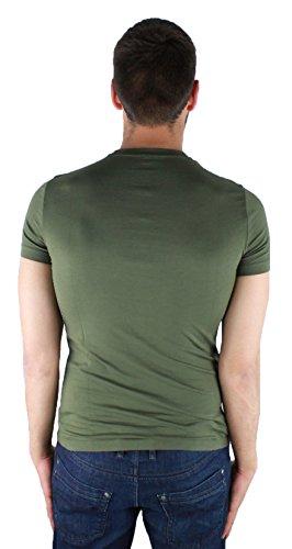 Armani Jeans 6Y6T35 6JHKZ 1878 Green Herren T-Shirt Grun