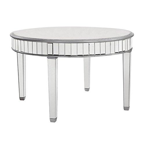 Cheap Elegant Lighting Chamberlan Mirrored Round Dining Table