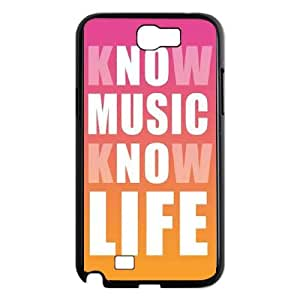 Samsung Galaxy N2 7100 Cell Phone Case Black_Know Music Know Life FY1562791