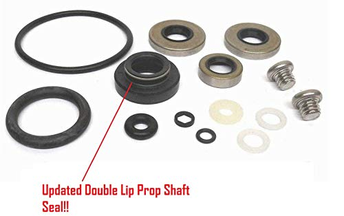 EMP Lower Unit Gearcase Seal Kit for Johnson Evinrude 9.9 15 Hp 2 Stroke 1974 & Up 4 Stroke 1994-2001 Replaces 396350 18-2656 Read Item Description for Applications
