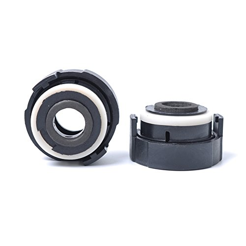 ETbotu 1pair H7 XENON for HID Bulbs Adapters Holders for BMW 318i/E65/E90/E46 3 Series - ()