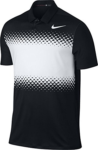 Men's TW Majors Block Golf Polo-833165-010-L (Shirt Woods Tiger)