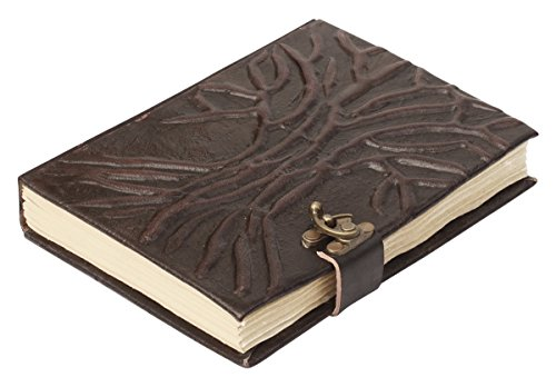 100% Pure Leather – TREE OF LIFE 8.1 Inch Vintage Antique Look Large Journal / Handmade Personal Notebook in Brown – Travel Diaries  Best Gift Ideas …