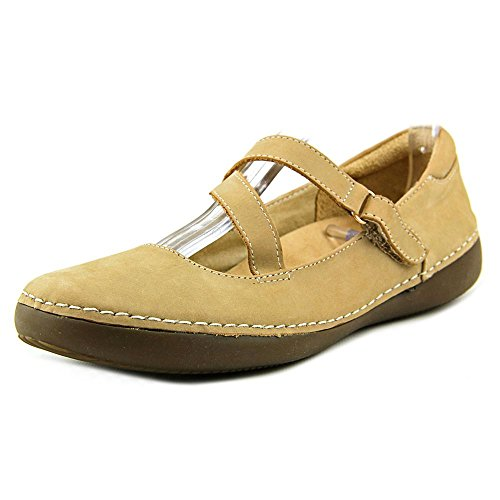 Vionic with Orthaheel Technology Womens Judith Flat Mary Jane,Oat,US 7 M