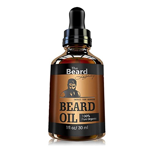 PREMIUM BEARD OIL Unscented For Men Made in USA, Moisturizes Skin, Softens Grow Beard - Mustache, Helps Itchiness and Dryness For Facial Hair 100% All Natural Organic and Organic Jojoba and Argan Oil.