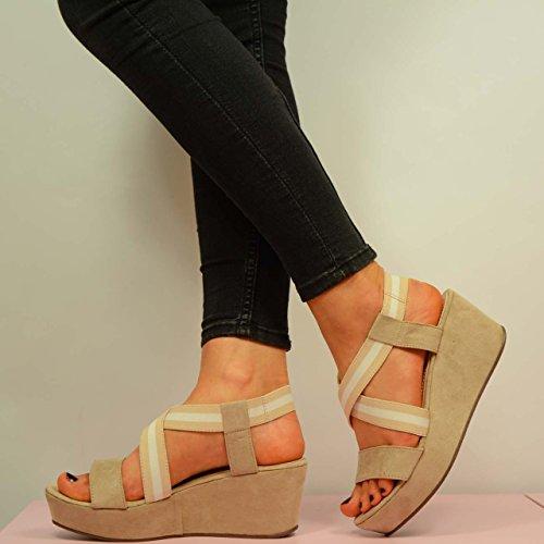 Fashion Sandales Beige Plateforme femme beige Cucu 1dxUqRw41