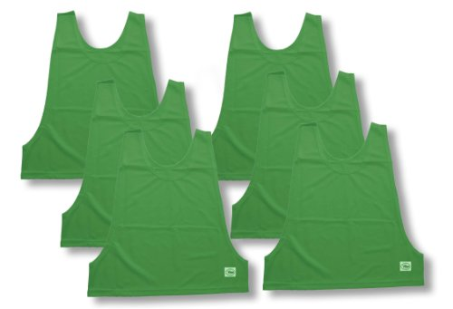 6-Pack of Practice Pinnies (Scrimmage Vests) for Soccer and Other Sports - Youth Size - Color - Vests Vests Pinnies Scrimmage