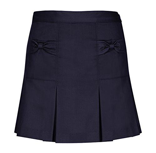Classroom Uniforms CLASSROOM Big Girls' Plus-Size Bow Pocket Scooter, Dark Navy, 10.5 -