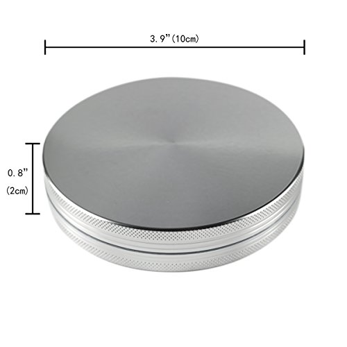 Formax420 100 mm XXL Herb Grinder Silver 2 Parts 0.8 inch Height Spice Crusher