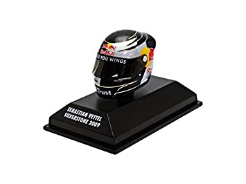 Minichamps 1:8 Sebastian Vettel Arai Mini F1 Helmet Silverstone 2009 by Minichamps