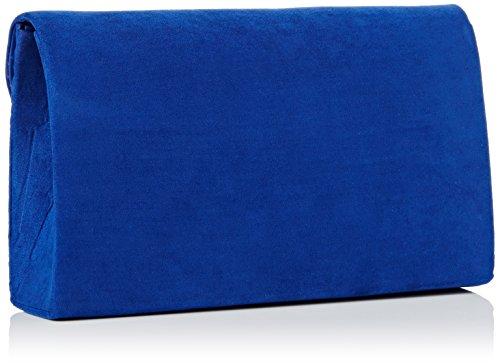 Oscar lussuoso Oro Trim busta scamosciata velluto partito da sposa pochette borsetta–SwankySwans Royal Blue