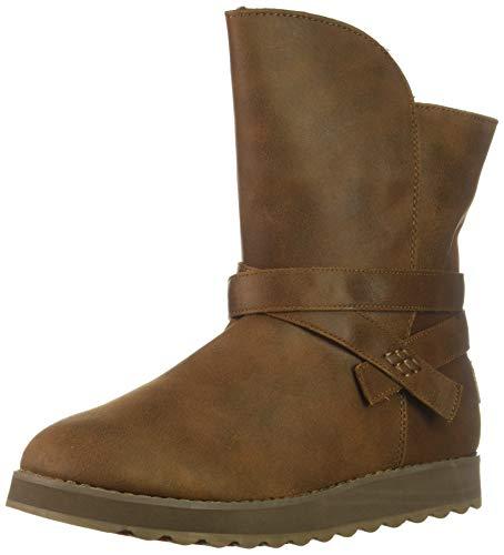 Bootie Keepsakes - Skechers Women's Keepsakes 2.0-Mid Boot with Strap Wrap Fashion, Chocolate, 8 M US