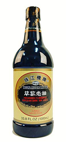 Pearl River Bridge Dark Soy Sauce PET Bottle, Mushroom Flavor, 33.8 fl. Oz