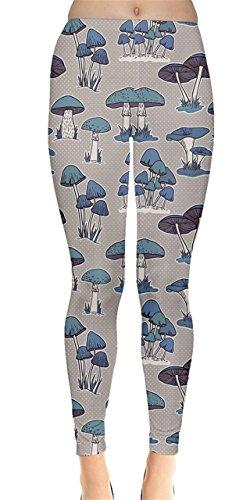 Cheap CowCow Womens Mushrooms toadstool fungus agaric Autumn Pattern Leggings, XS-5XL for sale