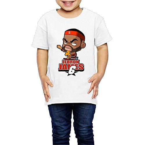 Kim Lennon Lebronly Jamesy Short Sleeve Girls T Shirt Comfortable Size 2 Toddler White