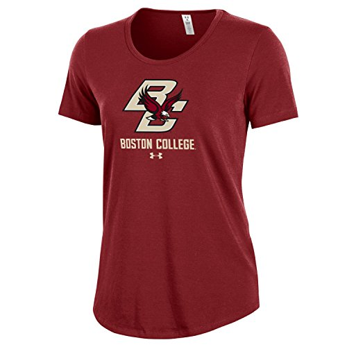 Under Armour NCAA Boston College Eagles Women's Short sleeve Charged Cotton Tee, Medium, Cardinal