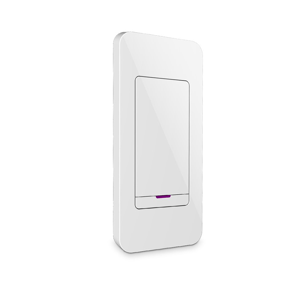 iDevices Instant Switch - Wireless Remote Wall Switch, Works with iDevices Products, Fits Standard Rocker Faceplate, White Rocker Switch