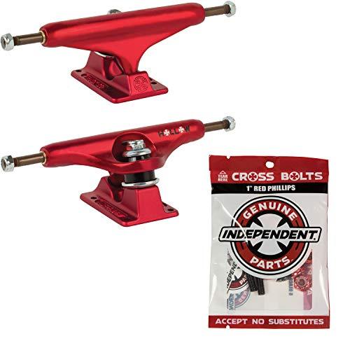 潤滑するオピエートピンチ独立したスケートボードトラック ホローレッド サイズ選択 + Indy Phillips ハードウェア