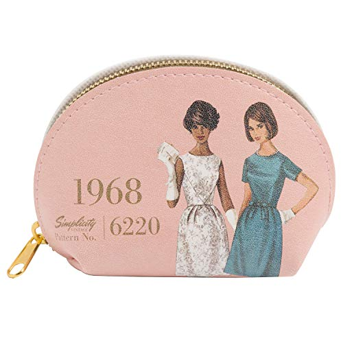 Simplicity Vintage 1960's Fashion Pleather Small Pouch Bag, 4.8'' x 3.3''
