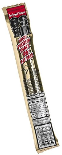 Ostrim Teriyaki Flavor Beef and Ostrich Stick (a stick of 42g) - High Protein Teriyaki Beef and Ostrich Flavored Stick ()