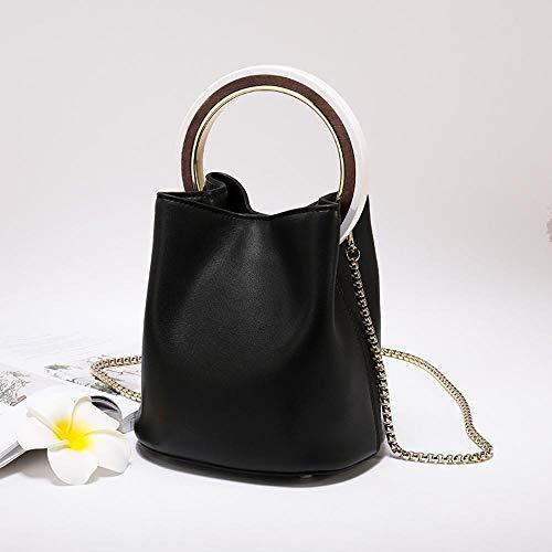 Anneau à en Vachette Cuir Sac B Oblique chaîne Sxuefang Cuir Fille Main Seau Sac Sac Fashion de 657n8wHq