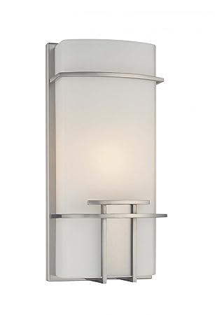 George Kovacs P465 084 Ada 1 Light Wall Sconce Brushed Nickel