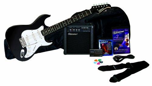 Silvertone Revolver Electric Guitar Pack, Black - SS11PK-BK -  0079253370526