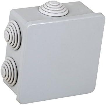 Electraline 60552 - Caja de derivación (de superficie, 80 x 80 mm ...