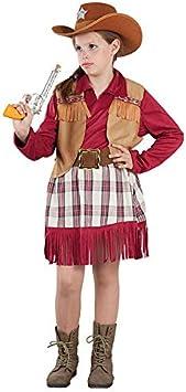DISBACANAL Disfraz de Vaquera Cowboy Infantil - -, 6 años ...