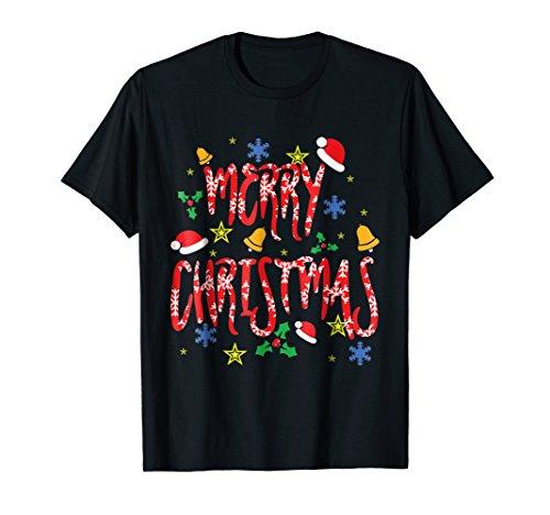 Merry Christmas T-Shirt | Happy Family Xmas Tee Gift Idea. (Merry Xmas Happy)
