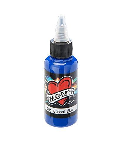 OLD SCHOOL BLUE Millennium Moms 1 oz Bottle Dark Tattoo Ink Mom's Brand (30ml)