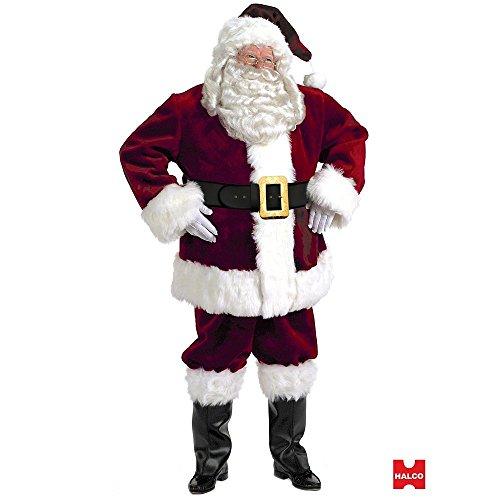 Halco Majestic Santa Suit (Size 50-56) Costume - 50-56 ()