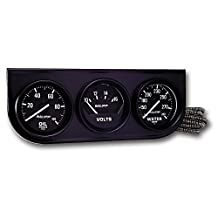 "Auto Meter 2397 Black 2-1/16"" Mechanical Three-Gauge Console"